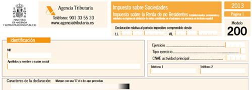 impuesto sociedades modelo 200